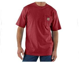 CARHARTT カーハート workwear Pocket Short-Sleeve T-Shirt ちょっとまだらな感じの杢調の生地のヘザーカラー Tシャツ メンズ 【K87-637 ポケットHE】