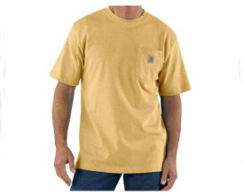 CARHARTT カーハート workwear Pocket Short-Sleeve T-Shirt ちょっとまだらな感じの杢調の生地のヘザーカラー Tシャツ メンズ 【K87-720 ポケットHE】