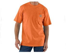 CARHARTT カーハート workwear Pocket Short-Sleeve T-Shirt ちょっとまだらな感じの杢調の生地のヘザーカラー Tシャツ メンズ 【K87-850 ポケットHE】