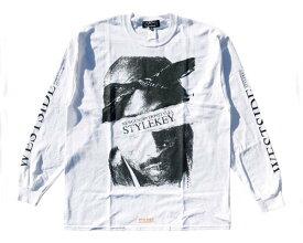 STYLEKEY スタイルキー ビッグサイズ対応 ウェッサイ・シーンのカリスマをモチーフ 手書き調のデザインで表現 Tシャツ L/S メンズ 【SK19HO-LS08 WES】