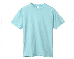 CHAMPION チャンピオン 伝統のCロゴ生地を挟みこんで縫製したバインダーネック JAPANサイジング Tシャツ メンズ 【C3-P300 685Cロゴ】