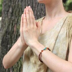 VANIブレスレットrawtq-carnelian【vaniヴァニブレスレットヨガアクセサリー天然石ルドラクシャ瞑想】