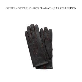 """DENTS - STYLE 17-1069 """"Ladies"""" - BARK/SAFFRON【国内正規】 デンツ バーク/サフロン ペッカリー革 カシミア グローブ 手袋 ブラウン"""