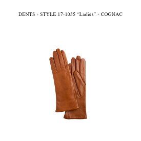 """DENTS - STYLE 17-1035 """"Ladies"""" - COGNAC【国内正規】デンツ コニャック ヘアシープ カシミア グローブ 手袋"""