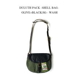 DULUTH PACK -SHELL BAG- OLIVE×BLACK(M) - WASH【国内正規】ダルースパック《シェル ショルダーバッグ》オリーブグリーン×ブラックレザー