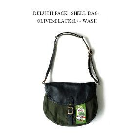 DULUTH PACK -SHELL BAG- OLIVE×BLACK(L) - WASH【国内正規】ダルースパック《シェル ショルダーバッグ》オリーブグリーン×ブラックレザー(L)