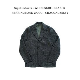 Nigel Cabourn - WOOL SKIRT BLAZER HERRINGBONE WOOL - CHACOAL GRAY【国内正規】ナイジェルケーボン《ウールスカートブレザーヘリンボーン》チャコールグレー