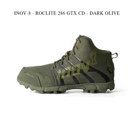 INOV-8 - ROCLITE 286 GTX CD - DARK OLIVE【国内正規】イノヴェイト イノベイト リニューアルモデル GORE-TEX・グラフェン搭載 ゴアテックス ランニング トレイル アウトドア オフロード ロックライト 防水 透湿 ダークオリーブ カーキ レディース