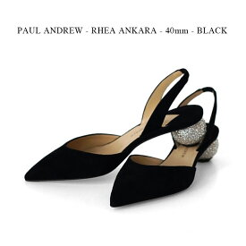 PAUL ANDREW - RHEA ANKARA - 40mm - BLACK【国内正規】ポールアンドリュー《パンプス》ブラック フォーマル