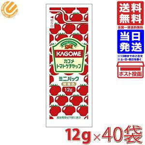 カゴメ トマトケチャップ ミニパック 12g×40袋 送料無料