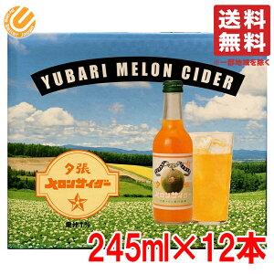 夕張メロンサイダー 245ml ×12ビン 友桝飲料 コストコ 通販 送料無料