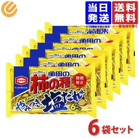 亀田製菓 亀田の柿の種 やみつき塩だれ味 182g×6個 送料無料(一部地域を除く)