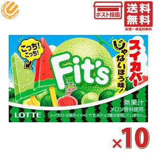 ロッテ Fit's フィッツ スイカバーじゃないほう味! 12枚×10個 送料無料