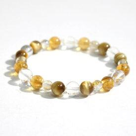 ヒマラヤ水晶(ゼロフィールド浄化ブレス)金運(女性B) 内径16.5cm メール便不可