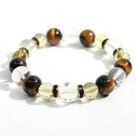 ヒマラヤ水晶(ゼロフィールド浄化ブレス)金運(男性B) 内径18cm メール便不可