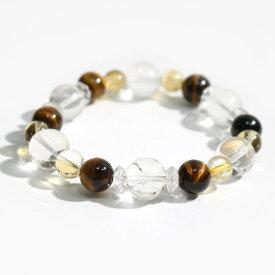 ヒマラヤ水晶(ゼロフィールド浄化ブレス)金運(男性C) 内径16.5cm メール便不可