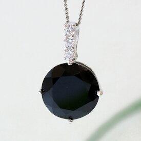 黒水晶ラウンド型シルバーペンダントトップ(天然石 パワーストーン アクセサリー ペンダント ネックレス)メール便不可