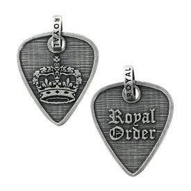 ロイヤルオーダー ROYAL ORDER ペンダント ギターピックウィズボーダーペンダント(クラウン) シルバー ジュエリー ブランド アクセサリー プレゼント ギフト 正規品 レディース メンズ