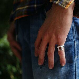 【SV925ハワイアンホースシューリング】ハワイアンジュエリーハワジュHawaiianjewelryPuaallyプアアリ手彫り指輪華奢シルバーネイティブプレゼントメンズサーフ海ペアリングピンキーリングセレブラッキー