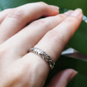 ハワイアンジュエリー/puaally/プアアリ/手彫り/オーダー/指輪/シルバー/リング/ペアリング