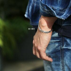 【SV925ハワイアンオーダーメイドオープンカフバングルハーフフェイス8mm幅2mm厚】ハワイアンジュエリーハワジュHawaiianjewelrypuaallyプアアリシルバーSilver手彫り鍛造プレゼント女性男性ブレスレットフラ日本製楽ギフ_包装