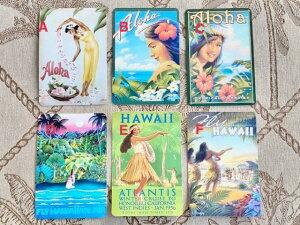 ハワイアン ヴィンテージ ポストカード 絵はがき グリーティングカード レター アートピクチャー レトロ HAWAII アーリーハワイ アロハ Aloha フラダンス ハワイ 雑貨 インテリア
