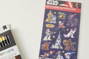 【STAR WARS】 Disney スター・ウォーズ ダースベイダー チューバッカ C3PO R2-D2 ヨーダ ディズニー ステッカー シール 6シート 90ステッカー カラフル キッズ 文房具 子ども 海外雑貨 プレゼント メ