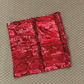 pillow クッションカバー 赤 レッド シルバー カバーのみ 37cm おしゃれ プレゼント 贈り物 リビング ソファー 海外雑貨 かわいい キラキラ スパンコール