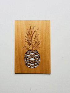 パイナップル Card カード 海外 感謝 おしゃれ かっこいい 木