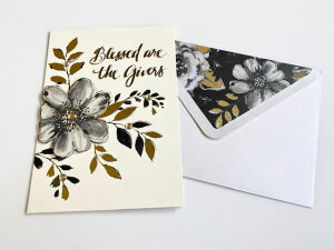 【Punch Studio】Greeting card グリーティングカード レターセット お手紙 メッセージカード ギフト 贈り物 お祝い 感謝 封筒付き 海外雑貨 おしゃれ かわいい インテリア 上品 花 flower 葉 グリーン