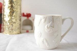 【ciroa】マグカップ クリスマス お菓子 キャンディ ティー 海外インテリア キッチン用品 ツリー 冬 12月 ハワイ買い付け ホワイト キッチン カフェ コーヒーカップ ティーカップ 海外輸入 ハ