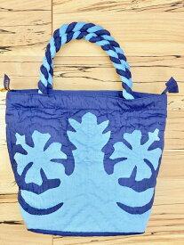 母の日 ハワイアンキルト バッグ ブルー 中 トートバッグ ショッピング サブバッグ ハンドバッグ 旅行 旅行用バッグ お出かけ ハワイアン雑貨 ハワイ ハワイアン雑貨 Hawaii 海外 プレゼント ギフト 母の日