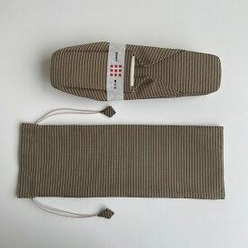 【送料無料】KINU HAKI 縞 金茶S〜Mサイズ 携帯用ケース付きセット