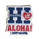 HI ハート アロハ ワッペン アップリケ シール ハレイワ ハッピー マーケット 大きい ハワイ ハワイアン 大人 アイロン おしゃれ かわ…