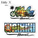 【キャッシュレス5%還元】ハワイアン雑貨 ハワイ 雑貨 ハワイアンディケールステッカー Eddy Y. アロハ ワイキキハワイ ハワイアン ハ…