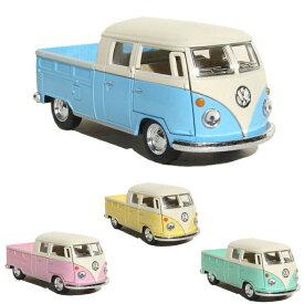 フォルクスワーゲン VW バス ダブルカブ パステル 1963 1/34 ミニチュアカー トイカー ハワイ雑貨 ハワイ ハワイアン 置き物 アメリカン カリフォルニア 西海岸 雑貨 インテリア VW ミニカー サーフ おもちゃ 車 おしゃれ あす楽