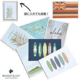ハワイアン雑貨 ハワイ 雑貨 BRADLEY&LILY ポストカード メッセージ カード ハワイ グリーティング ハワイアン サンクスカード ブラッドリー&リリー パイナップル 海 おしゃれ 海外 ハワイアンフラッグ おしゃれ アート