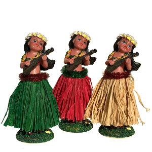 【複数購入 割引クーポン配布中】フラ レディー ウクレレ フラドール ハワイアン 人形 ハワイ 女 ミニチュア ディスプレイ ダッシュボード かわいい おしゃれ ハワイ雑貨 ハワイアン雑貨 イ