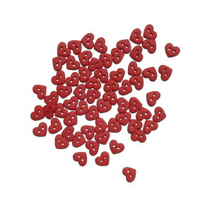 【マラソン限定クーポン配布中】ボタン セット 手芸 ミニ ハート 赤 レッド マット 約35個【6399】ハワイアン雑貨 ハワイ雑貨 かわいい おしゃれ 女の子 大人 飾りボタン 海外 カラフル アメ