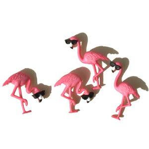 【複数購入 割引クーポン配布中】ボタン セット 手芸 ピンク フラミンゴ 鳥 約4個【10407】ハワイアン雑貨 ハワイ雑貨 かわいい 生き物 動物 おしゃれ 女の子 男の子 大人 飾りボタン 海外 カ