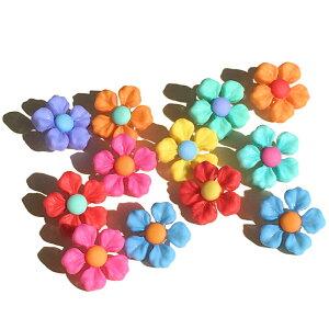 【複数購入 割引クーポン配布中】ボタン セット 手芸 ステップイントゥースプリング 約12個【10112】ハワイアン雑貨 ハワイ雑貨 かわいい 花 お花 フラワー 小花 おしゃれ 女の子 大人 飾りボ
