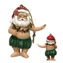 ハワイアン クリスマス オーナメント サンタクロース フラ フラダンス お踊り ハワイ 雑貨 飾り デコレーション ハンドペイント インテ…