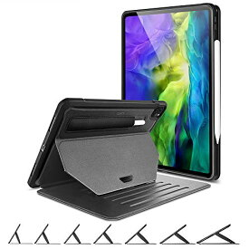 ESR iPad Pro 11 ケース 2020 [7つの角度に対応した便利なスタンド・引っ掛けるための強力なマグネット付き] [Pencilホルダー付き頑