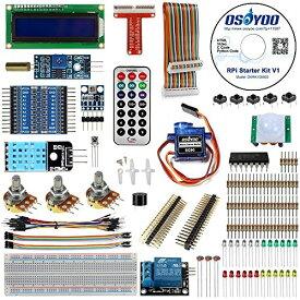 OSOYOO(オソヨー) Raspberry Pi 学ぶ電子工作キット 初心者演習用パーツセット ラズパイ11実例 回路配線図とサンプルスケッチ有り プ