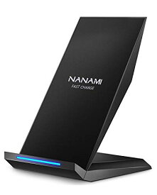 NANAMI Qi 急速 ワイヤレス充電器 Quick Charge ワイヤレスチャージャー 置くだけ充電 iPhone XS XS Max XR X 8 8 Plus、Galaxy S10
