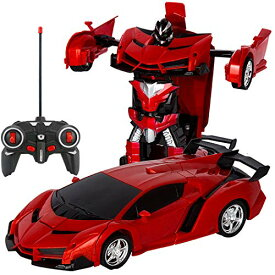 電動RCカー おもちゃの車 リモコンカー ラジコンカー 無線操作 ロボットに変換することができます 非常にクールなデザイン【景品付き