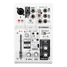 ヤマハ YAMAHA ウェブキャスティングミキサー オーディオインターフェース 3チャンネル AG03 インターネット配信に便利な機能付き 音