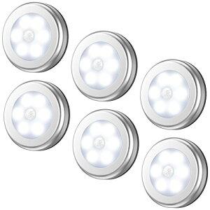 最新版 AMIR ledセンサーライト 室内 人感センサー 乾電池式 led ライトライト 明暗センサー 小型 マグネット テープ付き 階段車庫