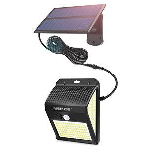 MEIKEE 分離型 センサーライト 屋外 ソーラーライト 人感センサー ガーデンライト 防犯ライト 壁掛け式【最新版200LED】3面発光 270°