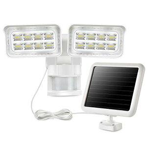 SOLLA ソーラーライト センサーライト 人感 屋外照明 防水 フリーアーム式 LED防犯ライト 1500LM 5000K(12Wx2灯)玄関 駐車場 ガー